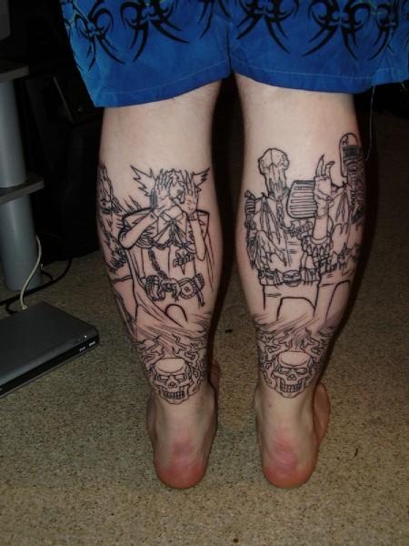 tattoos dredd personal ynwa judge legs tv judges dark
